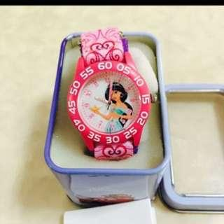 Disney   Kids' asmine Watch with Pink Free postage