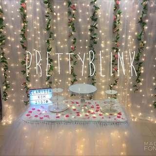 [RENTAL] Fairylight Backdrop 💕✨🎉