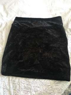 Cotton on felt mini skirt