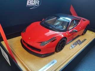 1/18 BBR Ferrari 458 Oakley edition in Red