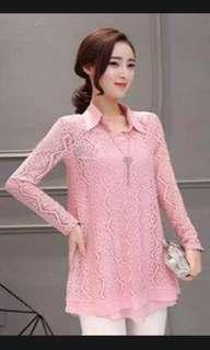 Blush Pink 2in1 Blouse
