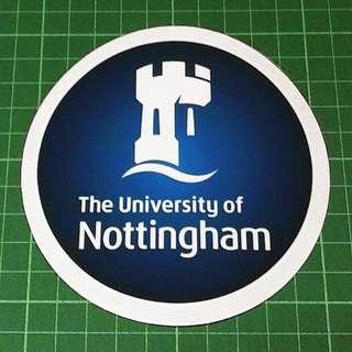 Surplus to Custom Orders: Static Cling Decals - University of Nottingham, Sydney, Massey, London School of Economics. Diameter 11cm. $6 each / 3 for $15. Free Normal Mail. Add $2.90 for AM Mail. Thank uuu