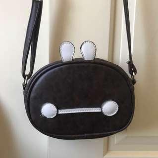 Cute leather brown shoulder sling bag