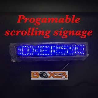 Programable scrolling signage