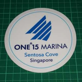 Surplus to Custom Order: Removable Static Cling Decal - One'15 Marina. Diameter 11cm. $6 each / 3 for $15. Free Normal Mail. Add $2.90 for AM Mail.