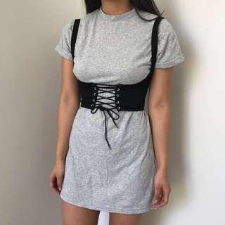 Tshirt dress with corset