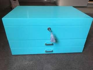 LARGE TURQUOISE JEWELRY BOX