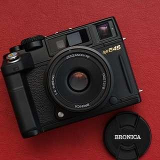 Bronica RF645 45mm Rangefinder Film Camera with ZENZANON RF 65 mm f/4 Lens