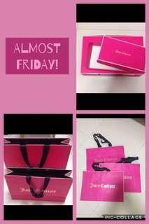 Juicy couture new paper bags