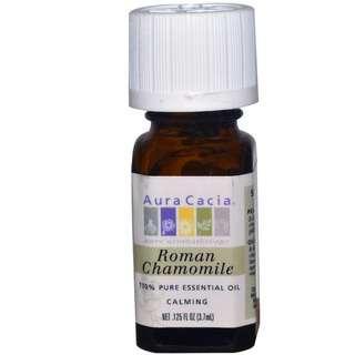 100% Pure Roman Chamomile Essential Oil, Aura Cacia (3.7ml)