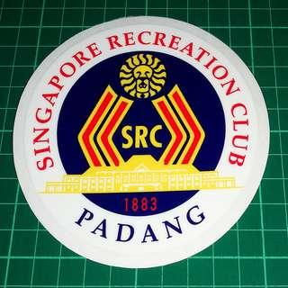 Surplus to Custom Orders: Removable Static Cling Decals - SRC Singapore Recreation Club, PADANG and One'15 Marina. 11cm diameter. $6 each / 3 for $15. Free Normal Mail. Add $2.90 for AM Mail.