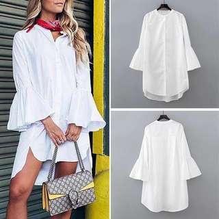 WHITE BELL POLO DRESS