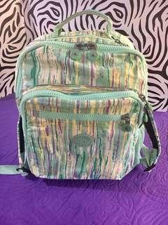 Authentic Kipling Mint Green Print Backpack