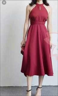 midi dress (back zipper)