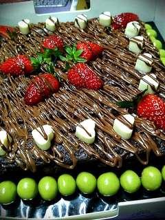 Kek brownies home bake!!