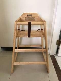 原木兒童餐椅
