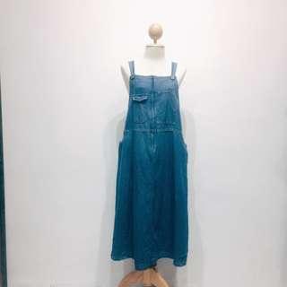Vintage Denim Dress / Pinafore
