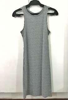 COTTON ON Gray Sleeveless Ribbed Dress