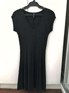 COTTON ON Black Ribbed Dress