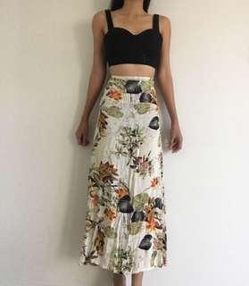Bundle crop top and maxi skirt