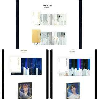 WANNA ONE THE WORLD DVD/BLURAY/KIHNO - PHOTOCARD/POSTCARD (SET)