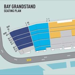 Last ticket: F1 Bay Grandstand!  - light blue sector (great view)