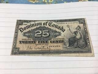 Canada fractional note