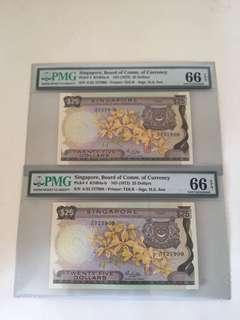 Orchid Series $25 With 2 Run yellow paper unc