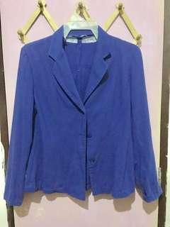 Plus Size Blue Coat