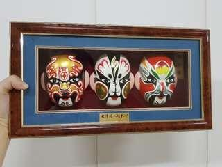Chinese Opera Masks in Frame