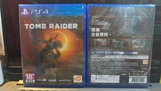 Ps4 tomb raider shadow普通版 中英文合版到貨!