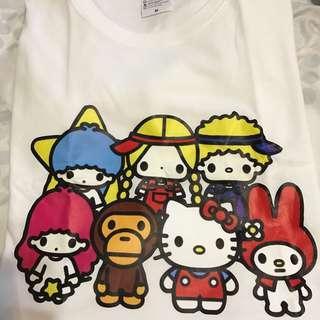 Hello Kitty & Bape Milo friends tee -shirt