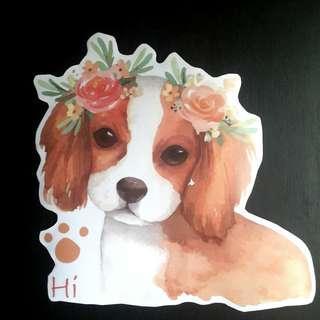 Cocker Spaniel Puppy Clear Wall Sticker