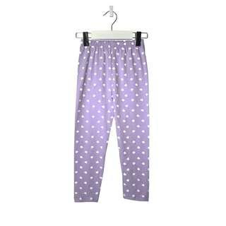 🚚 Purple Polka Dots/Hearts Leggings