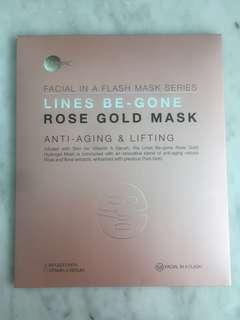 *NEW* SKIN INC Facial in A Flash Lines be gone rose gold mask