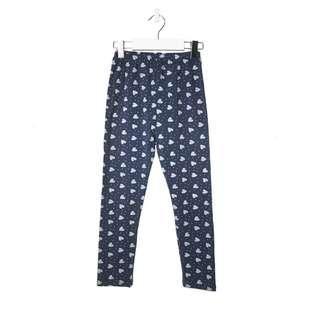 🚚 Blue Polka Dots/Hearts Leggings