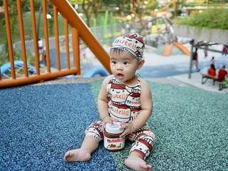 Nutella Baby Chocolate Suit Cosplay for Baby Newborn