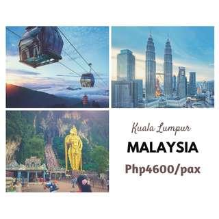 Kuala Lumpur Malaysia Tour Package ALL IN for 3D2N Land arrangement