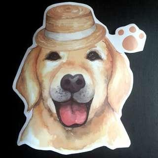 Labrador Retriever Clear Wall Sticker