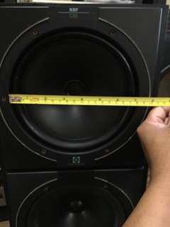 古老銅軸KEF喇叭一對 只有小小瑕疵,無損音色