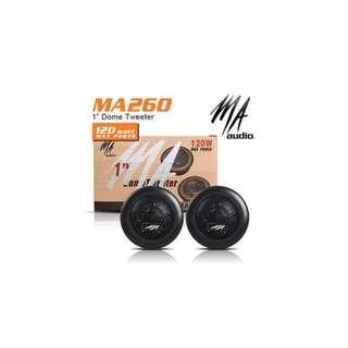 "MA AUDIO USA 1"" 120W Titanium Dome Tweeter [MA260]"