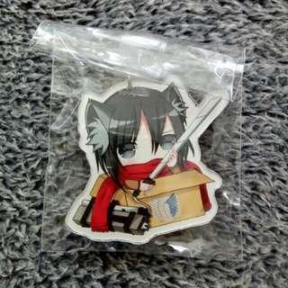 Attack on Titan Cute Acrylic Keychain - Mikasa