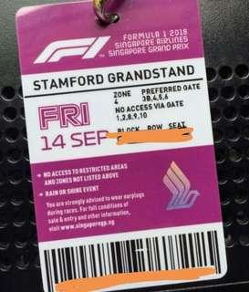 Friday Stamford grandstand - great seats - two tickets