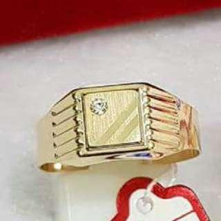 AUTHENTIC GOLD PAWNABLE 18K SAUDI GOLD UNISEX RING SIZE 9