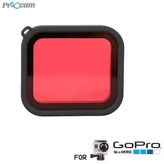 Proocam PRO-F220 Light Motion Night Under Sea waterproof case Filter for Gopro Hero 5 (Red)