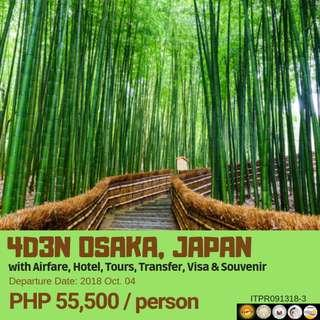 4D3N Osaka, Japan with Airfare via Philippine Airlines