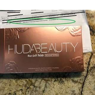 Huda Beauty Rose Gold Remastered Palette BRAND NEW & AUTHENTIC [PRICE IS FIRM, NO SWAPS]