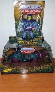 Mattel He-Man 糸列 骷髏魔Skeletor 及 紫豹Panthor 一對全新不散, the Masters of the Universeclassics 糸列,連原白盒 MOUTC