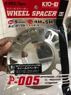 KYO-EI Universal Wheel Spacer 5mm