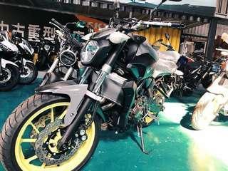 Yamaha MT07 灰黃 2017年全新車